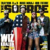Lola Monroe Rocks Giuseppe Zanotti Suede Bow Platforms On The Cover of The Source With Wiz &Taylor Gang Crew