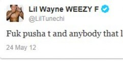 Lil Wayne Fires Back At Pusha T Via Twitter