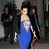 Kim Kardashian Spotted Serving Pregnant Body In An Electric Blue Dress With Revealing Cut-Outs