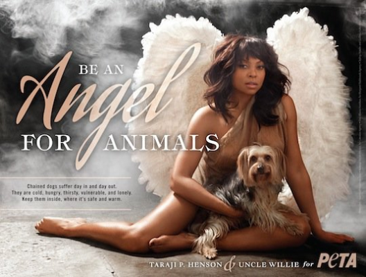 PETA LOVE: Actress Taraji P. Henson Wants You To Be An Angel For Animals [Photo + Video]