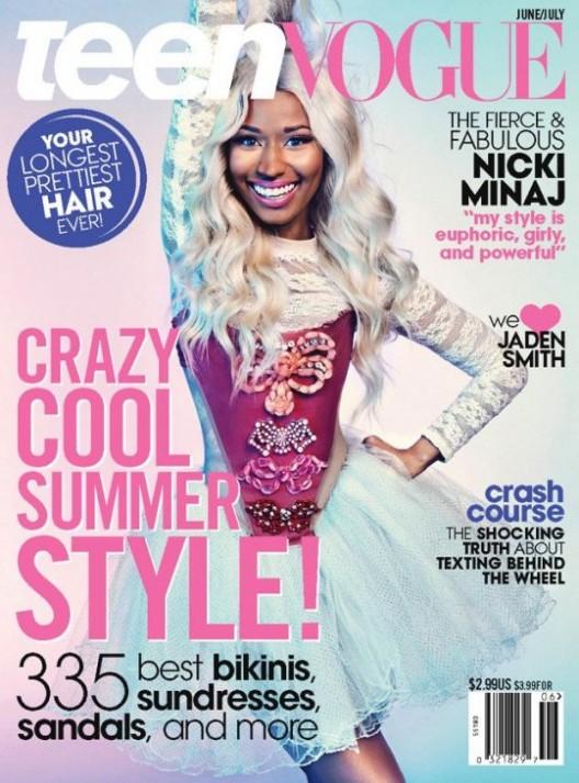@NickiMinaj Graces The Cover Of Teen Vogue