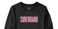 WOULD YOU BUY: Beyoncé's Black And Pink 'Surfboard' Sweatshirt