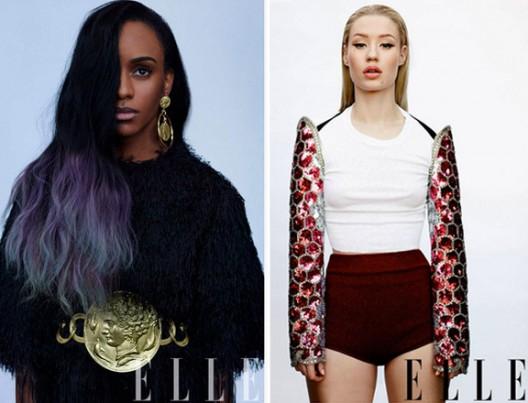 Female Mc's Iggy Azalea x Angel Haze Appear In ELLE Magazine Women In Music Issue