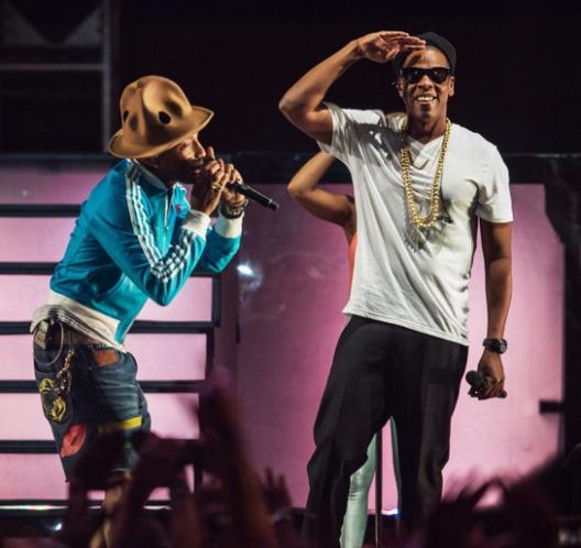 Pharrell & Jay-Z Perform At Coachella 2014