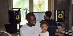 Daddy's Girl: Kim K Shares Adorable Picture Of Kanye West & Daughter North West