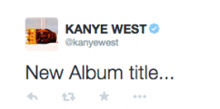 KANYE WEST SHARES NEW ALBUM TITLE & ARTWORK