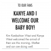 It's A Boy: Kim Kardashian & Kanye West Reveal The Name Of Their Newborn Son