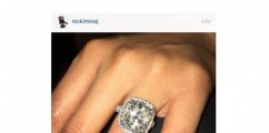 BIRTHDAY BLING: @NickiMinaj Shows Off Her Flawless Stone On Instagram