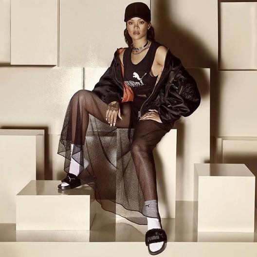 COMFORT & STYLE: Rihanna x PUMA Set To Drop Furry Slides
