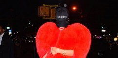 Rihanna Spotted In NYC Rocking Saint Laurent Heart-Shaped Fur Cape