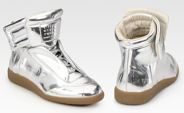 Sneakers for Men On Sale, Silver, Leather, 2017, 8 Maison Martin Margiela