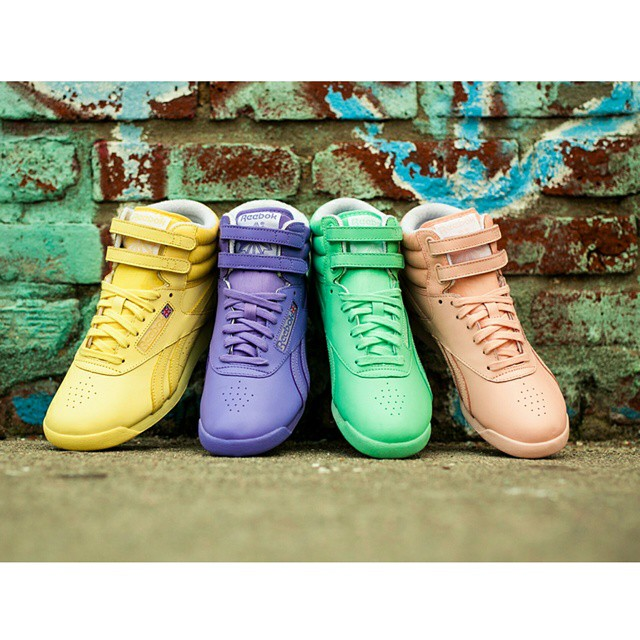 16bcdd3db018 The Reebok Freestyle Hi is one of the most easily recognizable women s  sneakers in history. In 1982