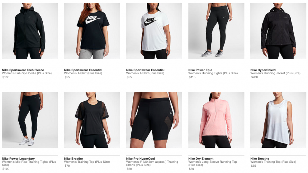 07bd7c816b58b Nike Launches Plus Size Women s Collection