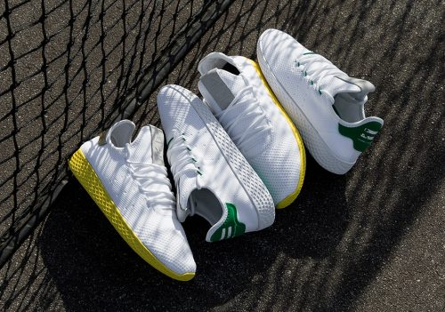578ff2189 Pharrell s next Adidas Human Race shoe drops this weekend. The Adidas Tennis  Hu is inspired by the minimalist Og Stan Smith Design.